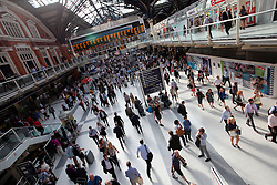UK ENGLAND LONDON 21JUL15 - Crowds of commuters during rush hour in Liverpool Street station, city of  London.<br /> <br /> <br /> <br /> jre/Photo by Jiri Rezac / Greenpeace<br /> <br /> <br /> <br /> © Jiri Rezac 2015