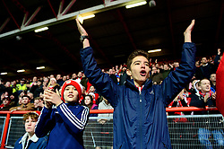 Bristol City fans cheer on their side as they play Manchester United in the Carbao Cup - Mandatory by-line: Dougie Allward/JMP - 20/12/2017 - FOOTBALL - Ashton Gate Stadium - Bristol, England - Bristol City v Manchester United - Carabao Cup Quarter Final