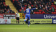 Cardiff City midfielder, Anthony Pilkington (13) celebrating after he thought he scored but was ruled out for being offside during the Sky Bet Championship match between Charlton Athletic and Cardiff City at The Valley, London, England on 13 February 2016. Photo by Matthew Redman.