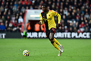 Abdoulaye Doucoure (16) of Watford on the attack during the Premier League match between Bournemouth and Watford at the Vitality Stadium, Bournemouth, England on 12 January 2020.