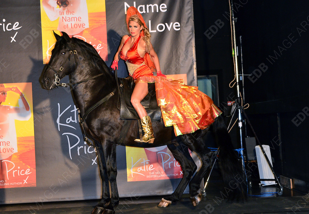 21.JUNE.2012. LONDON<br /> <br /> KATIE PRICE LAUNCHES NEW BOOK ON HORSE BACK<br /> <br /> BYLINE: EDBIMAGEARCHIVE.CO.UK<br /> <br /> *THIS IMAGE IS STRICTLY FOR UK NEWSPAPERS AND MAGAZINES ONLY*<br /> *FOR WORLD WIDE SALES AND WEB USE PLEASE CONTACT EDBIMAGEARCHIVE - 0208 954 5968*