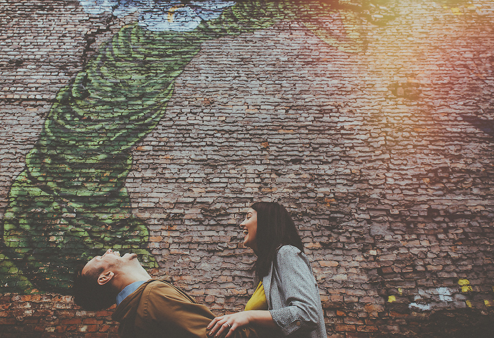 Becky & Barry's engagement shoot in Manchesters Northern Quarter. 17th October 2015