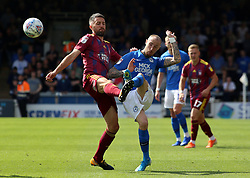Marcus Maddison of Peterborough United in action with Cole Skuse of Ipswich Town - Mandatory by-line: Joe Dent/JMP - 17/08/2019 - FOOTBALL - Weston Homes Stadium - Peterborough, England - Peterborough United v Ipswich Town - Sky Bet League One