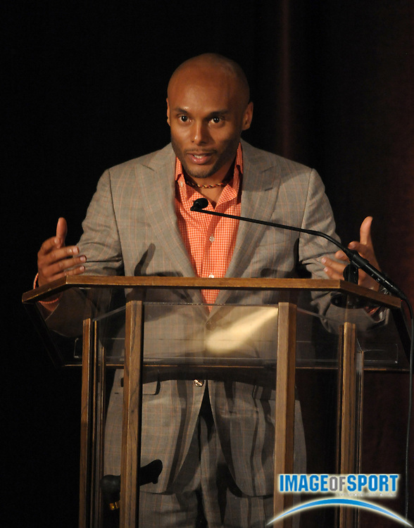Mar 30, 2012; Austin, TX, USA; Recording artist Kenny Lattimore at the 6th annual Minority Mentorship Symposium at the AT&T Executive Education and Conference Center.