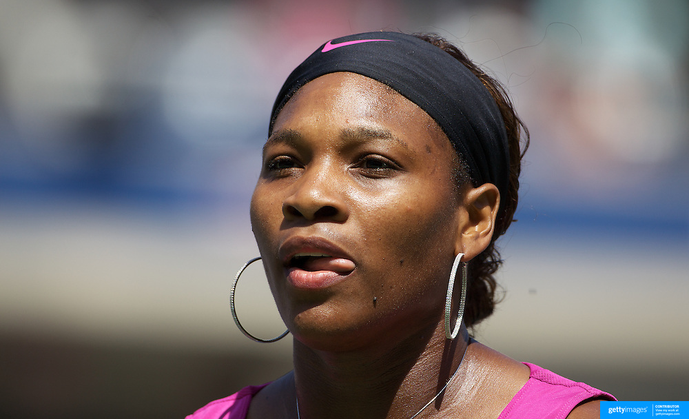 Serena Williams, USA, in action against Daniela Hantuchova, Slovakia, during the US Open Tennis Tournament at Flushing Meadows, New York, USA, on Sunday  September 6, 2009. Photo Tim Clayton