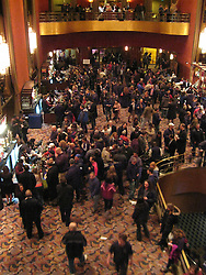 Fans in the Lobby. Furthur Concert at Radio City Music Hall New York 24 February 2010