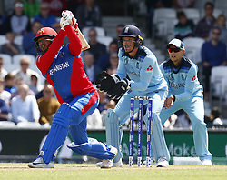 May 27, 2019 - London, England, United Kingdom - Asghar Afghan of Afghanistan.during ICC Cricket World Cup - Warm - Up between England and Afghanistan at the Oval Stadium , London,  on 27 May 2019. (Credit Image: © Action Foto Sport/NurPhoto via ZUMA Press)