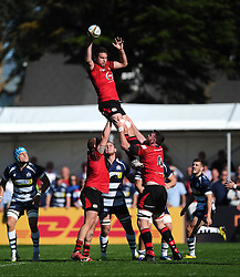 Jersey win a line out  - Mandatory byline: Joe Meredith/JMP - 07966386802 - 26/09/2015 - RUGBY - St. Peter -Saint Peter,Jersey - Jersey Rugby v Bristol Rugby - Greene King IPA Championship