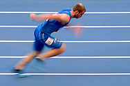 Matteo Galvan from Italy competes in men's 400 meters qualification during the 14th IAAF World Athletics Championships at the Luzhniki stadium in Moscow on August 11, 2013.<br /> <br /> Russian Federation, Moscow, August 11, 2013<br /> <br /> Picture also available in RAW (NEF) or TIFF format on special request.<br /> <br /> For editorial use only. Any commercial or promotional use requires permission.<br /> <br /> Mandatory credit:<br /> Photo by © Adam Nurkiewicz / Mediasport