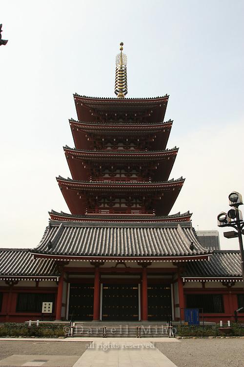 Mar 9, 2006; Tokyo, JPN; Asakusa.Gojun-to (five storied pagoda) just outside the the Senso-ji Buddhist temple...Photo credit: Darrell Miho