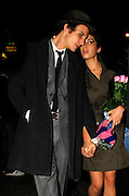 14.SEPTEMBER.2007. LONDON<br /> <br /> AMY WINEHOUSE AND HUSBAND BLAKE LEAVING CENTURY CLUB, SOHO AT 1.30AM HOLDING A BUNCH OF FLOWERS AFTER CELEBRATING AMY&rsquo;S 24TH BIRTHDAY.<br /> <br /> BYLINE: EDBIMAGEARCHIVE.CO.UK<br /> <br /> *THIS IMAGE IS STRICTLY FOR UK NEWSPAPERS AND MAGAZINES ONLY*<br /> *FOR WORLD WIDE SALES AND WEB USE PLEASE CONTACT EDBIMAGEARCHIVE - 0208 954 5968*