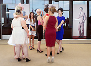 © Licensed to London News Pictures. 17/06/2014. Ascot, UK . Women chat. Day one at Royal Ascot 17th June 2014. Royal Ascot has established itself as a national institution and the centrepiece of the British social calendar as well as being a stage for the best racehorses in the world. Photo credit : Stephen Simpson/LNP