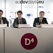 03 June 2015 - Belgium - Brussels - European Development Days - EDD - Social business: A new model for sustainable development? - Thomas Thivillon ,<br /> Head of Energy Unit, Entrepreneurs du monde - Rapha&euml;l De Guerre , Programme Manager, Agence Fran&ccedil;aise de D&eacute;veloppement (AFD) - Jean-Gabriel Dayre ,<br /> Senior Investment Officer, PROPARCO - Jon Salle , <br /> Programme Manager, CERISE &copy; European Union