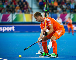 The Netherlands Sander De Wijn. England v Netherlands  - Unibet EuroHockey Championships, Lee Valley Hockey & Tennis Centre, London, UK on 23 August 2015. Photo: Simon Parker