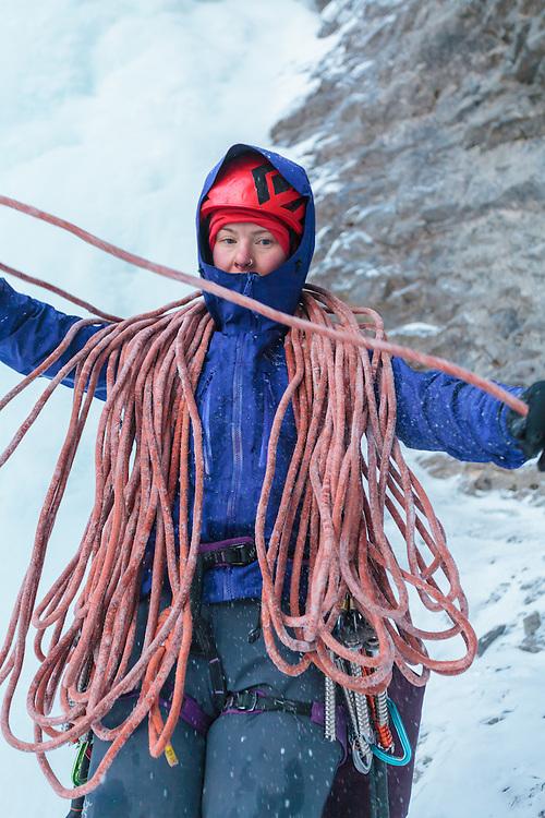 Michelle Kadatz Ice Climbing Professors