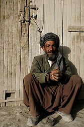 A bearded man  in Kabul, Afghanistan.