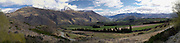 View of Crown Terrace, overlooking the Remarkables mountains and the Kawarau River Valley, New Zealand; Sept 2012
