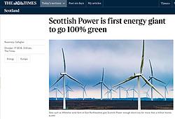 The Times; Whitelee Wind farm