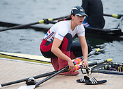 Caversham, United Kingdom. Rosamund BRADBURY releases her sculls from the gate at the 2015 GBRowing Team, December Trials at the Training Base Nr Reading.<br /> <br /> Saturday  19/12/2015<br /> <br /> [Mandatory Credit; Peter SPURRIER/ntersport Images] [Mandatory Credit; Peter SPURRIER/Intersport Images]