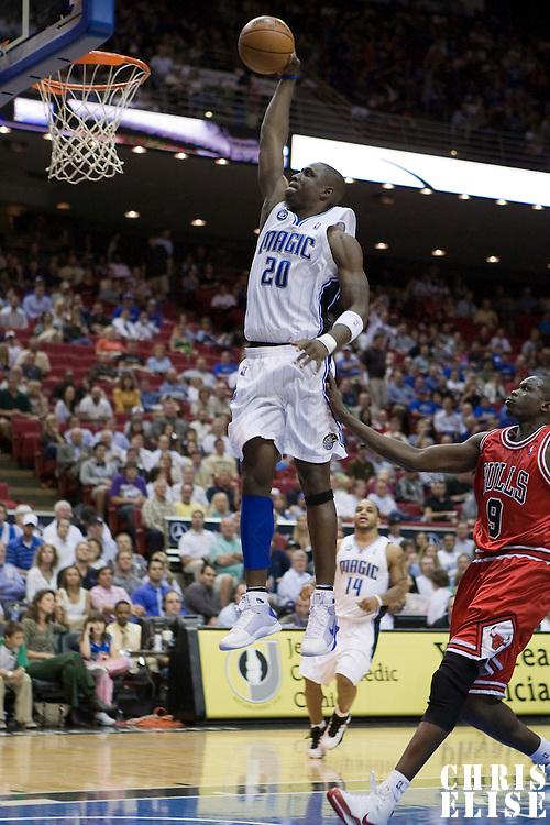 NBA - ORLANDO (USA) - 03/11/2008 -  .ORLANDO MAGIC V CHICAGO BULLS (96-93) - MICKAEL PIETRUS / ORLANDO MAGIC, LUOL DENG / CHICAGO BULLS