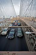 UNITED STATES-NEW YORK CITY-Brooklyn Bridge. PHOTO: GERRIT DE HEUS.VERENIGDE STATEN-NEW YORK. Fietser en hardlopers op de Brooklyn Bridge. PHOTO  GERRIT DE HEUS