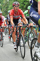 Sykkel<br /> 08.08.2014<br /> Foto: imago/Digitalsport<br /> NORWAY ONLY<br /> <br /> Vegard BREEN ( NOR / Lotto - Belisol ) im Anstieg Sciana Bukovina<br /> <br /> Tour de Pologne - Tour of Poland - Polen Rundfahrt 2014 - Stage 6 / 6.Etappe: Bukovina Hotel Terma Spa nach Bukovina Tantrzanska 174.0 km