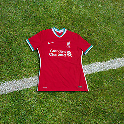 LIVERPOOL, ENGLAND - Saturday, August 1, 2020: Liverpool FC launch their new 2020/21 kit as part of a new 5 year deal with American sportswear brand Nike reported to be worth $39.5m per year. This is a handout picture from Liverpool FC. (Pic by Liverpool FC/Nike via Propaganda)