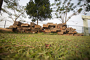 Confiscated illegally logged hardwood is stored in the park ranger at Pramoay. The forest rangers are employed by the Ministry of Environment but sponsored by Flora and Fauna International who pays them 75% of their salary and provides training and accommodation. They undertake regular patrols in to the Samkos Wildlife Sancturary which is part of the Cardamom Mountains Nature Reserve looking for illegal activites such as logging, poaching, land encroachment and the production of the illegal substance sassafras oil. The Cardamom Mountains and surrounding forests is the largest and most pristine area of intact forest in SE Asia. Covering an area of 2.5 million acres it became one of the last strong holds of a retreating Khmer Rouge. Their presence helped preserve the forest as no-one dared to venture inside. But with the Khmer Rouge gone, it faces new dangers from poachers, loggers and illegal drug factories. In charge of protecting this vast forest are a handful of rangers who's job it is to track down and arrest those who are helping to destroy this delicate habitat.