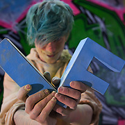 Yanny Tokyo. The video the Power of IF was filmed in a tunnel by Waterloo and was filmed and produced by Armoury London.More than a hundred 16 - 25 yr olds joined a creative paint-fuelled event to express their support for the Enough Food IF campaign. While making the video was a fun and colourful process, the message remains a serious one: global hunger is outrageous and unacceptable.