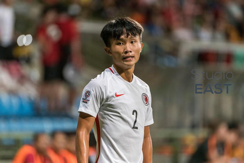 SINGAPORE, SINGAPORE - AUGUST 31: Tsui Wang Kit of Hong Kong during the international friendly match between Singapore and Hong Kong at the Jalan Besar Stadium on August 31, 2017, in Singapore, Singapore. (Photo by Getty Images)