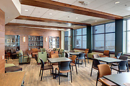 Natural light fills Mendota Lodge in the lower level of Memorial Union.  This space reopened in 2014 after the Memorial Union Reinvestment.