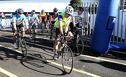 Cyclists take part in the 111 mile cycling challenge organised by the Community Foundations of Bristol and Gloucester Rugby - Mandatory by-line: Robbie Stephenson/JMP - 03/07/2016 - CYCLING - Ashton Gate - Bristol, United Kingdom - Break The Cycle Challenge 2016