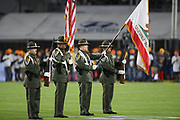 Ventura County Sheriff's Department Color Guard before an NFL football game between the Los Angeles Rams and Seattle Seahawks, Sunday, Dec. 8, 2019, in Los Angeles, Calif. The Rams defeated the Seahawks 28-12. (Peter Klein/Image of Sport)