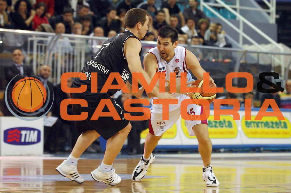 DESCRIZIONE : Rieti Lega A1 2007-08 Solsonica Rieti La Fortezza Virtus Bologna<br /> GIOCATORE : Mario Gigena<br /> SQUADRA : Solsonica Rieti<br /> EVENTO : Campionato Lega A1 2007-2008 <br /> GARA : Solsonica Rieti La Fortezza Virtus Bologna<br /> DATA : 29/03/2008<br /> CATEGORIA : Palleggio<br /> SPORT : Pallacanestro <br /> AUTORE : Agenzia Ciamillo-Castoria/E. Grillotti