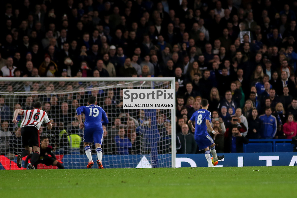 Oscar scores During Chelsea vs Sunderland on Saturday the 19th December 2015.