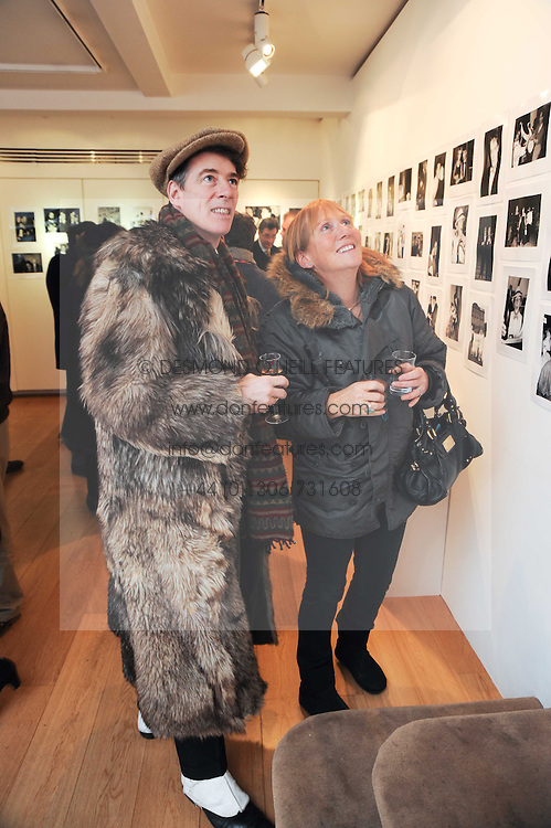GAZ MAYALL and AMANDA GOVETT at a private view of photographs by Nick Ashley held at the Sladmore Gallery, 32 Bruton Place, London on 13th January 2010.