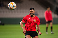 SYDNEY, AUSTRALIA - APRIL 10: Shanghai SIPG FC player Hulk (10) warms up prior to the match at The AFC Champions League football game between Sydney FC and Shanghai SIPG FC on April 10, 2019, at Netstrata Jubilee Stadium in Sydney, Australia. (Photo by Speed Media/Icon Sportswire)