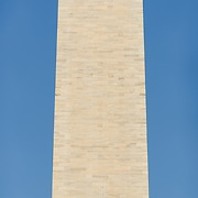 Washington Monument High Resolution Panorama Eastern Face. Very high resolution panorama image (114 megapixel) of the eastern face of the Washington Monument on the National Mall with clear blue sky background.