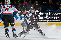 KELOWNA, CANADA - MARCH 10: Ty Ronning #7 of the Vancouver Giants stops on the ice against the Kelowna Rockets on March 10, 2017 at Prospera Place in Kelowna, British Columbia, Canada.  (Photo by Marissa Baecker/Shoot the Breeze)  *** Local Caption ***