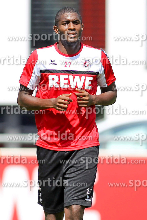 16.07.2015, Geissbockheim, Koeln, GER, 1. FBL, 1. FC Koeln, Training, im Bild Neuzugang Anthony Modeste (1. FC Koeln #27) // during a practice session of German Bundesliga Club 1. FC Cologne at the Geissbockheim in Koeln, Germany on 2015/07/16. EXPA Pictures &copy; 2015, PhotoCredit: EXPA/ Eibner-Pressefoto/ Schueler<br /> <br /> *****ATTENTION - OUT of GER*****