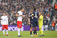 Arbitre Lionel Jaffredo / Zlatan Ibrahimovic - 15.03.2015 - Bordeaux / Paris Saint Germain - 29e journee Ligue 1<br />