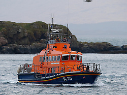 Oban's RNLB Mora Edith MacDonald assisting along with other emergency services in the search for a missing woman in the Oban area....... (c) Stephen Lawson | Edinburgh Elite media