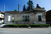 abandoned house damaged in 1991 -- 1995 war. Petrinja, Croatia