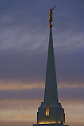 A Beautiful Sunset in the Snake River valley as a backdrop to the Rexburg, Idaho LDS Temple on June 15th, 2011