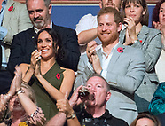 Meghan,Harry & Beckhams At Invictus2018 Closing