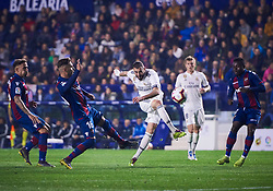 February 24, 2019 - Valencia, U.S. - VALENCIA, SPAIN - FEBRUARY 24: Karim Benzema, forward of Real Madrid CF in action with the ball during the La Liga match between Levante UD and Real Madrid CF at Ciutat de Valencia stadium on February 24, 2019 in Valencia, Spain. (Photo by Carlos Sanchez Martinez/Icon Sportswire) (Credit Image: © Carlos Sanchez Martinez/Icon SMI via ZUMA Press)