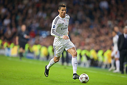 MADRID, SPAIN - Tuesday, November 4, 2014: Real Madrid's Cristiano Ronaldo in action against Liverpool during the UEFA Champions League Group B match at the Estadio Santiago Bernabeu. (Pic by David Rawcliffe/Propaganda)