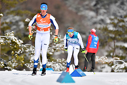 INOLA Inkki FIN B3 Guide: SORMUNEN Vili competing in the ParaSkiDeFond, Para Nordic 10km during the PyeongChang2018 Winter Paralympic Games, South Korea.