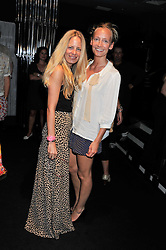 Left to right, ASTRID HARBORD and MARTHA WARD at a party to launch the Gucci designed Fiat 500 customized by Gucci Creative Director Frida Giannini in collaboration with FIAT's Centro Stile, held at Fiat, 105 Wigmore Street, London on 27th June 2011.