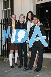 Tara Whelan, Ryan Wiggins and Junior Frood (winners of the Diana Award, left to right) posing for photos outside 11 Downing Street to celebrate seventeen years of the Diana Award. This award, set up in memory of Princess Diana, today has the support of both her sons the Duke of Cambridge and Prince Harry. Photo date: Wednesday, October 19, 2016. Photo credit should read: Richard Gray/EMPICS Entertainment